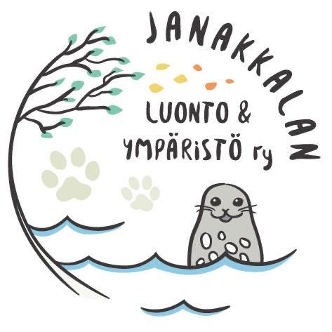 yhdistyksen logo, jossa vettä ja saimannorppa